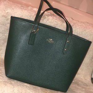 Coach Turquoise Zip Tote Bag. Never used.